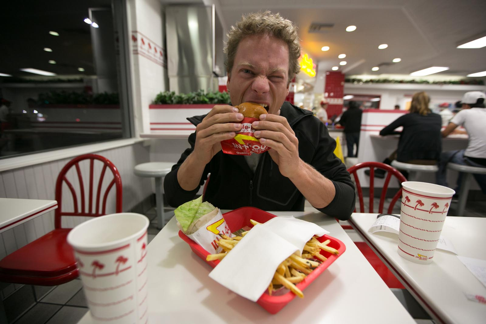 Back in town -- time for In-n-Out! We totally deserved it.