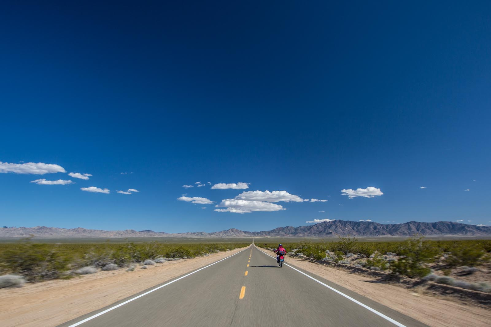 On the Road! Amazing views crossing the Mojave desert.