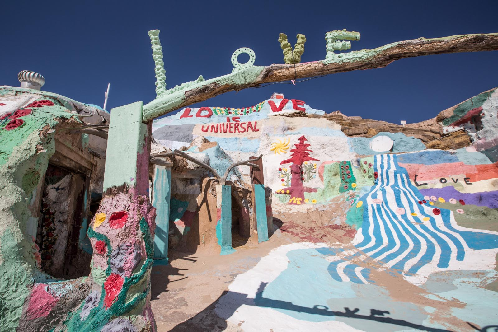Salvation mountain, just outside of Slab City. Amazing and kind of weird. Love is universal I guess.