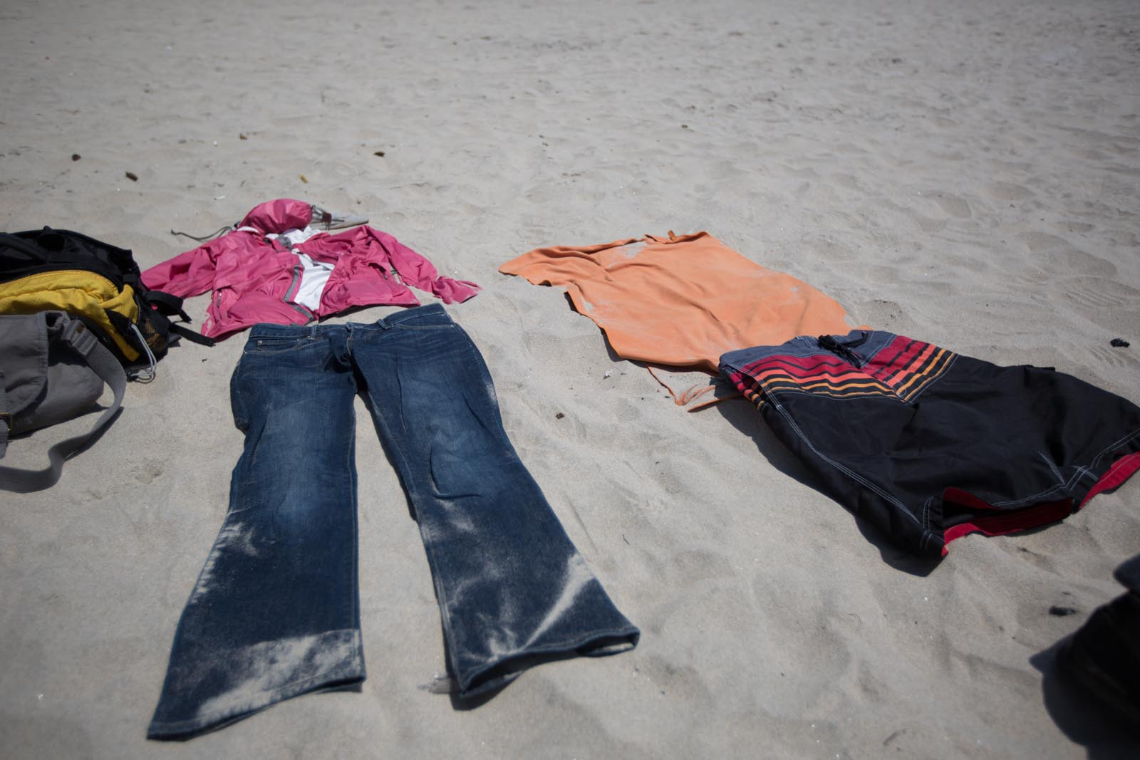This is how you lay out on the beach with no beach towels in Rosarito.