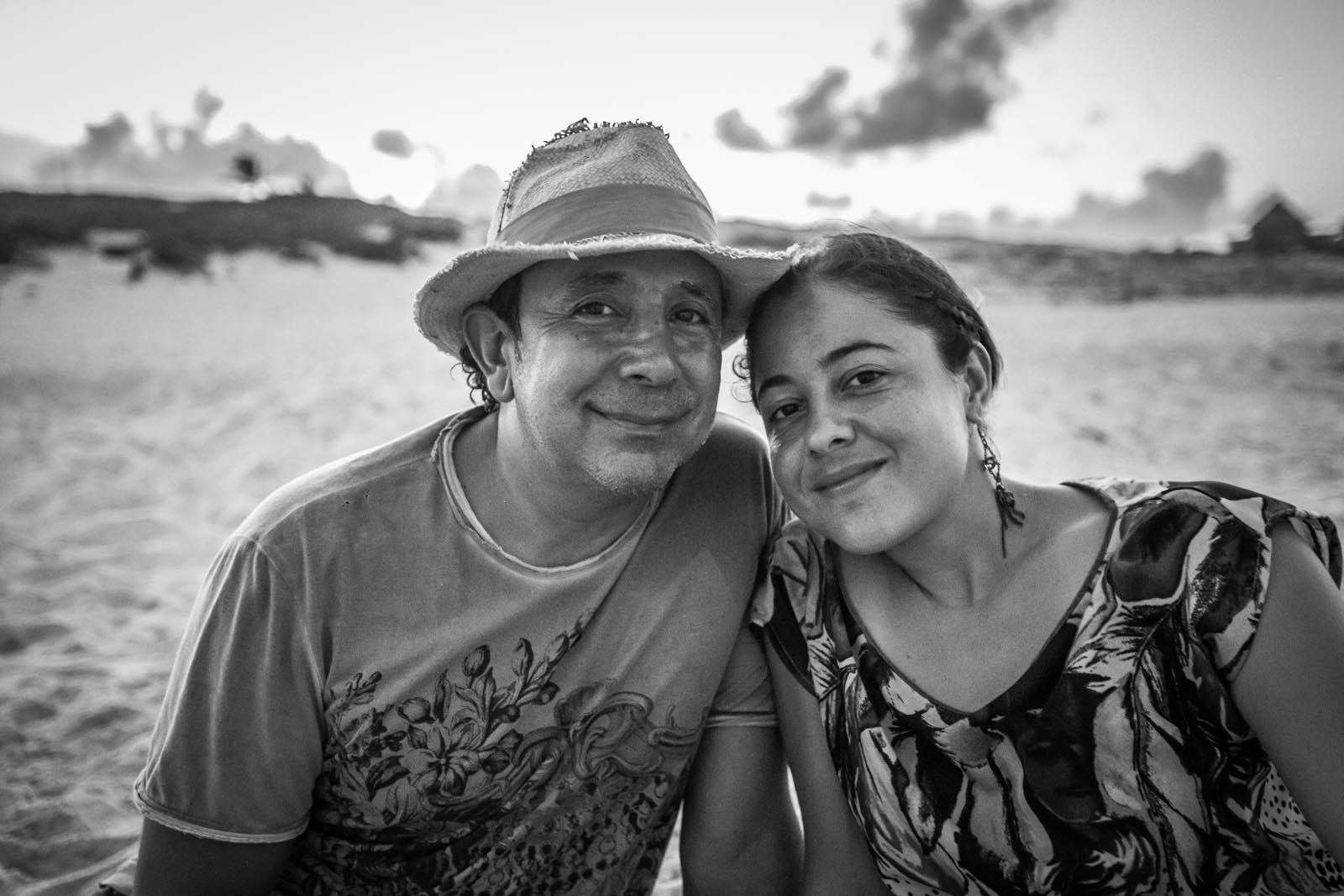 Our new friends, Leon and Marisol, at Playa Delphines, waiting for the full moon to rise.