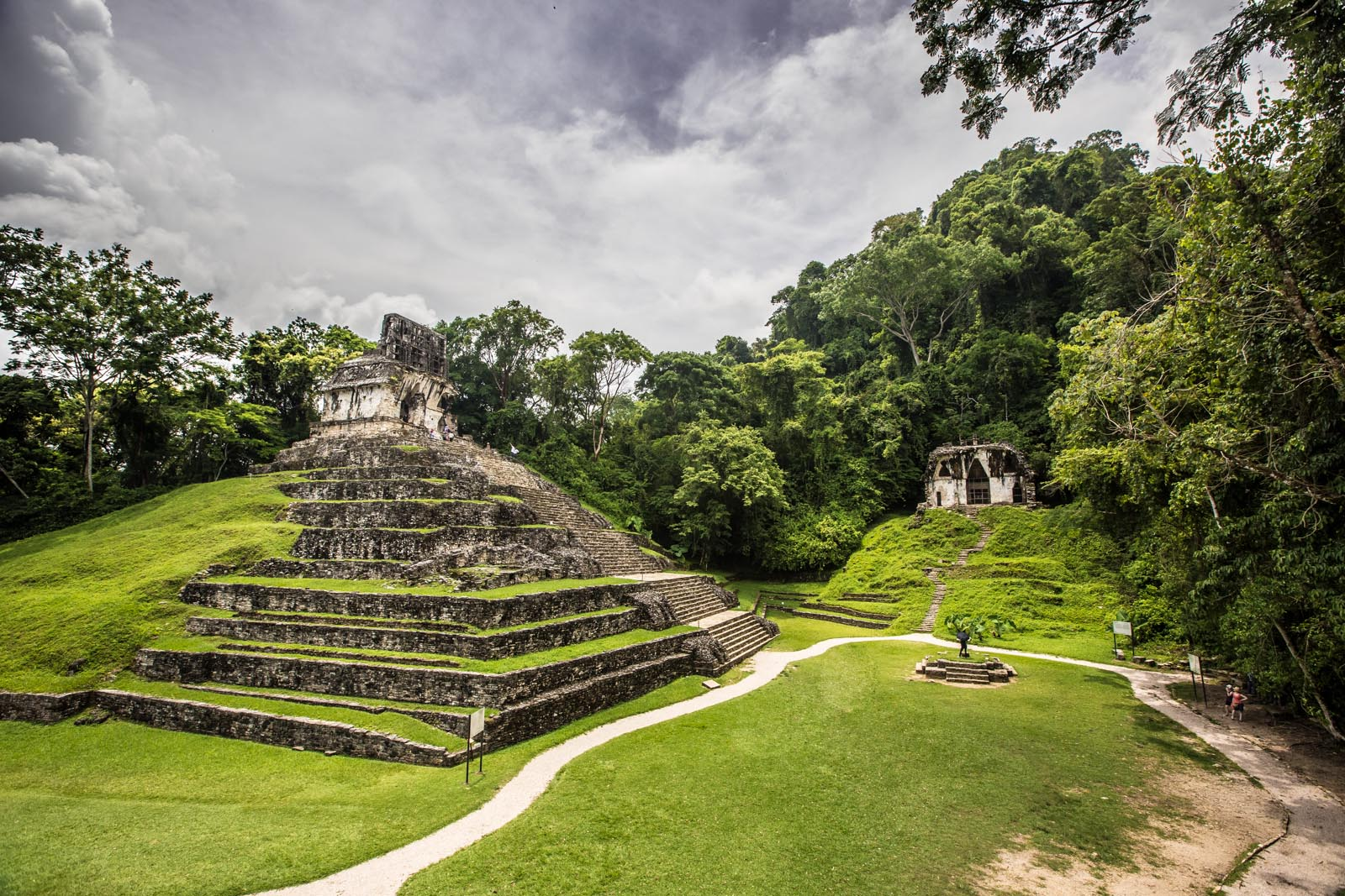 The Mayan ruins of Palenque.