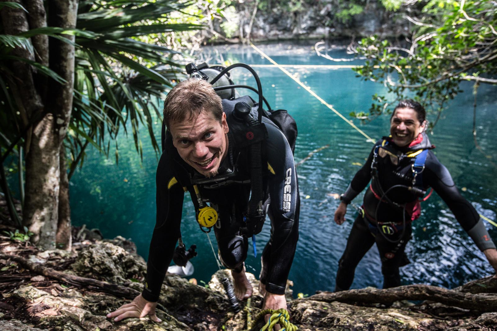 You can tell by the giant smiles on both Andrew's and Paolo's faces, that they didn't enjoy Angelita, The Little Angel, cenote at all.
