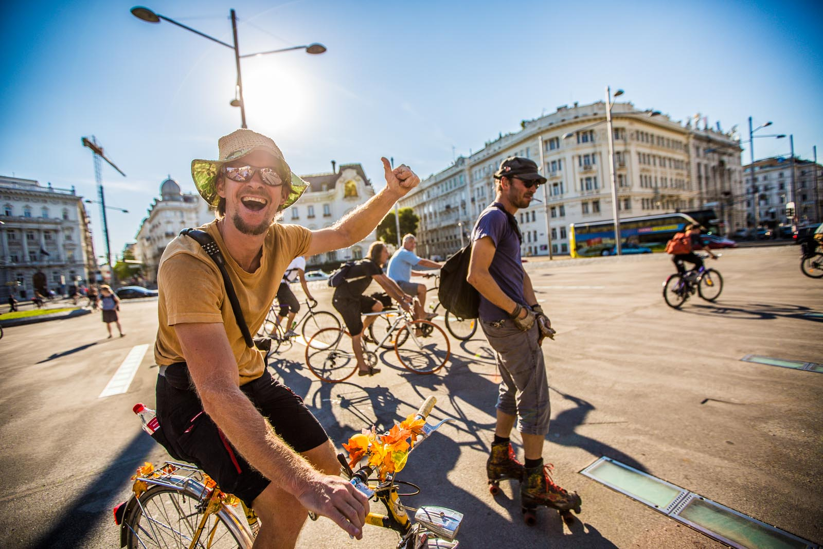 Thumbs up for rollerskates and crazy bikes!